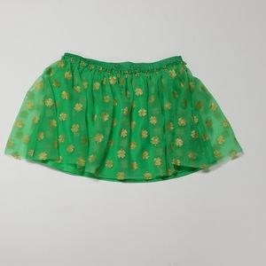 Girls Green tutu with Clovers